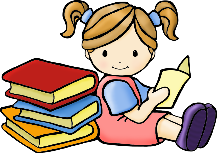 830x583 Kids Reading Books Clip Art – 101 Clip Art