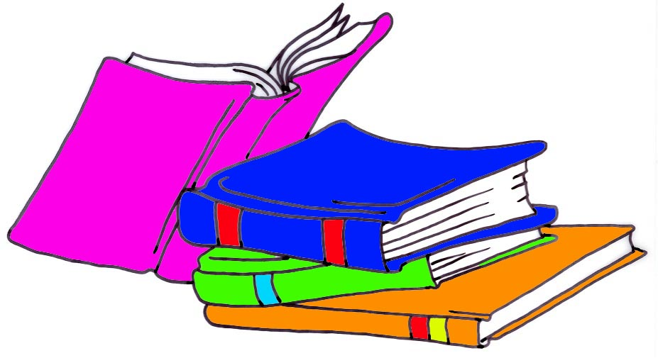 927x505 Reading a book clip art image