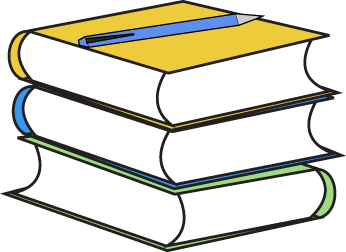 346x252 Stack of Books and Pencil Clip Art