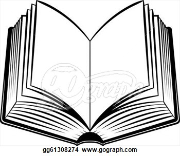 350x304 Open Book Clipart Black And White