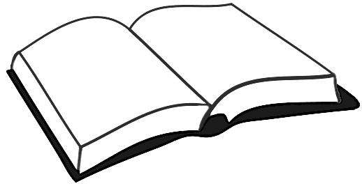 518x267 Open Book Clipart Black And White