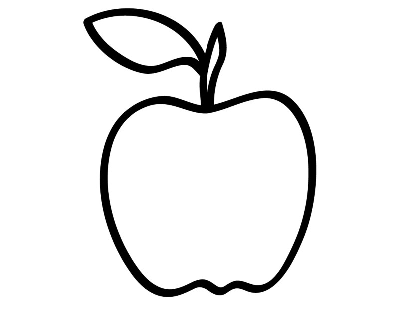 830x623 Apple Clipart Blackand White