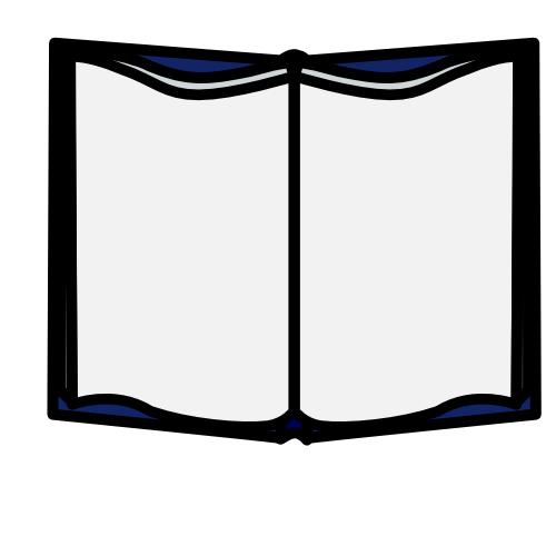 500x500 Book Clipart Black