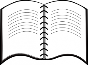 300x222 Open Notebook Clipart Black And White