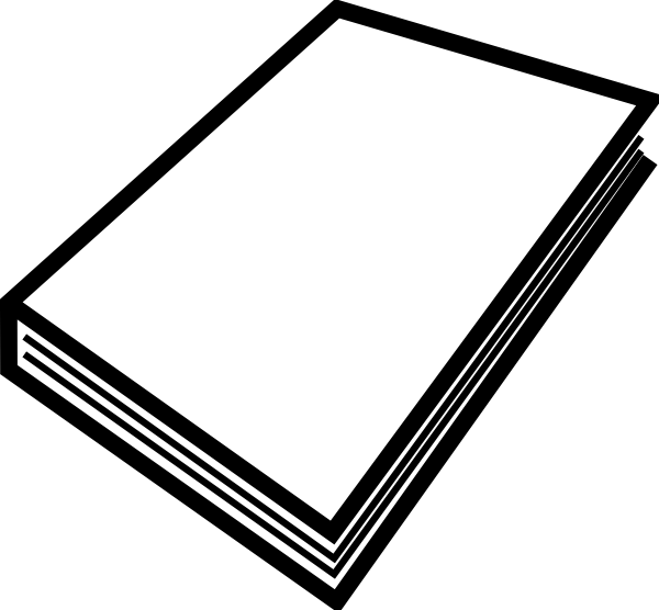 600x556 Free Closed Book Clipart Image