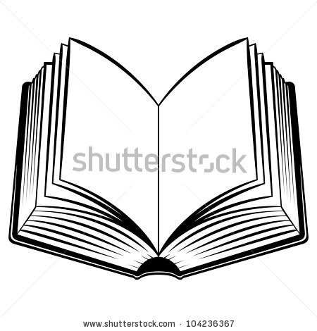 450x470 Open Book Clipart Black And White