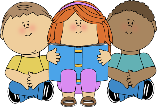 550x374 Kids Reading Clip Art