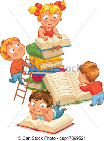 348x470 Kids Reading Clip Art Children S Book Clipart Children Reading