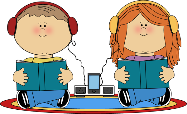 600x367 School Kids On Rug Listening To Books Clip Art