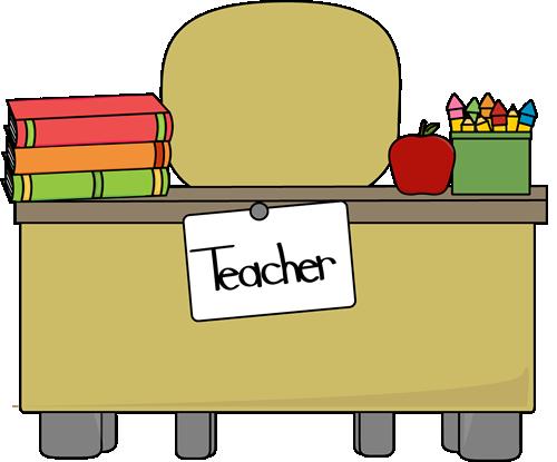 500x415 Teacher's Desk Clip Art