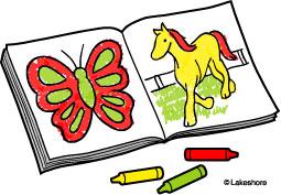 255x177 Coloring Book Clip Art