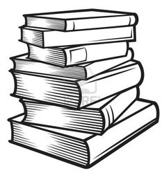 236x250 clip art books black and white Clipart Stack Of Books In Black