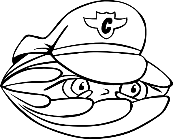 600x482 Clam Security Guard 2 Outline Clams, Outlines