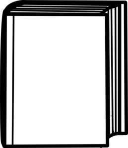 258x299 Closed Book Outline Clip Art