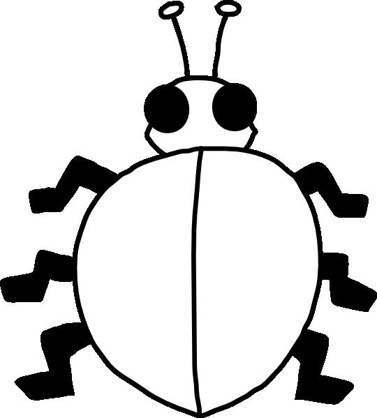 540x599 Ladybug Outline Ladybug Clip Art