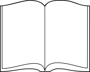 299x240 Open Book Outline Clip Art