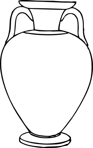 372x591 Outline Greek Amphora Clip Art Free Vector In Open Office Drawing