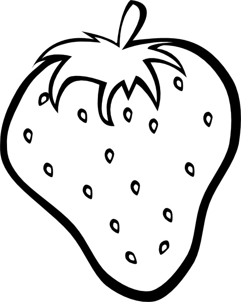 480x600 Outline Strawberry Clip Art Free Vector In Open Office Drawing Svg