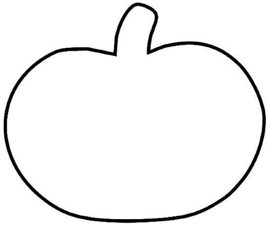 550x461 Pumpkin Outline Clip Art