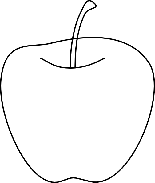 504x595 Apple Clipart Outline Png