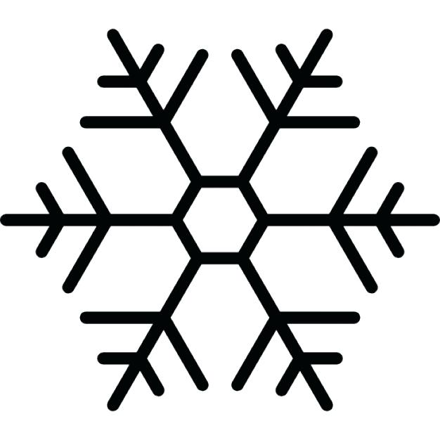 626x626 Outline Of A Snowflake