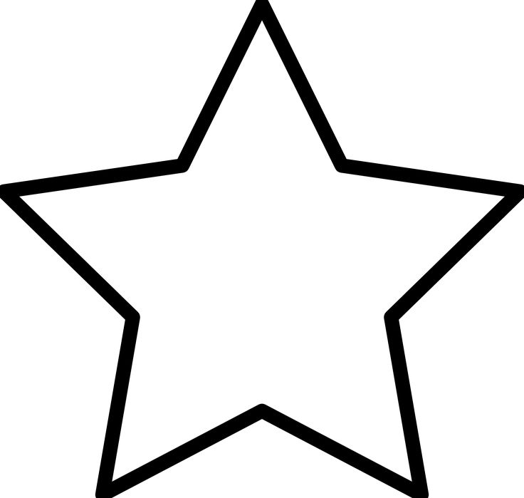 736x699 Best Shooting Star Clipart Ideas Star Outline