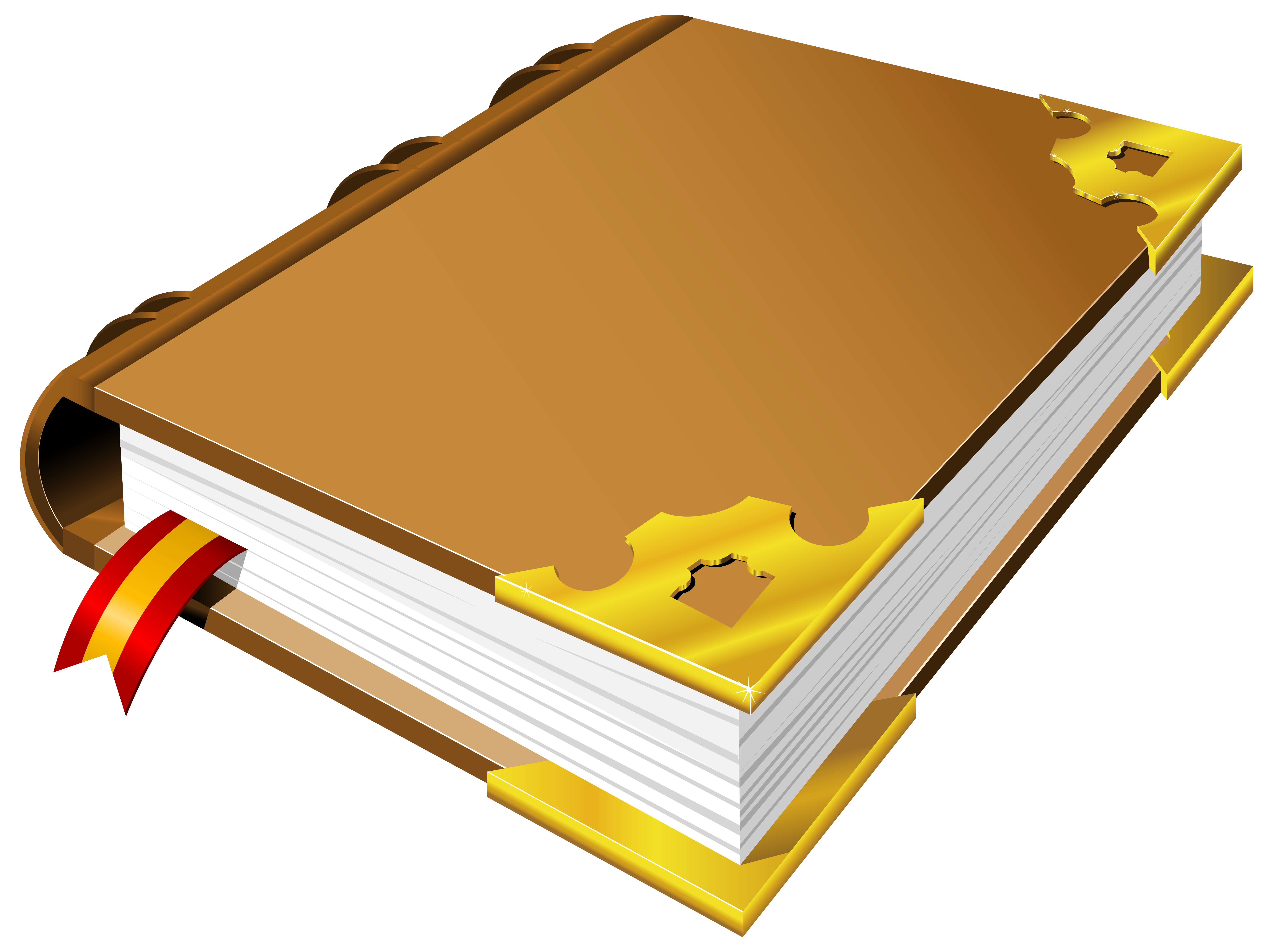 6283x4698 Brown Book Png Clipart