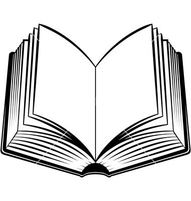 380x400 Book Clipart Vector