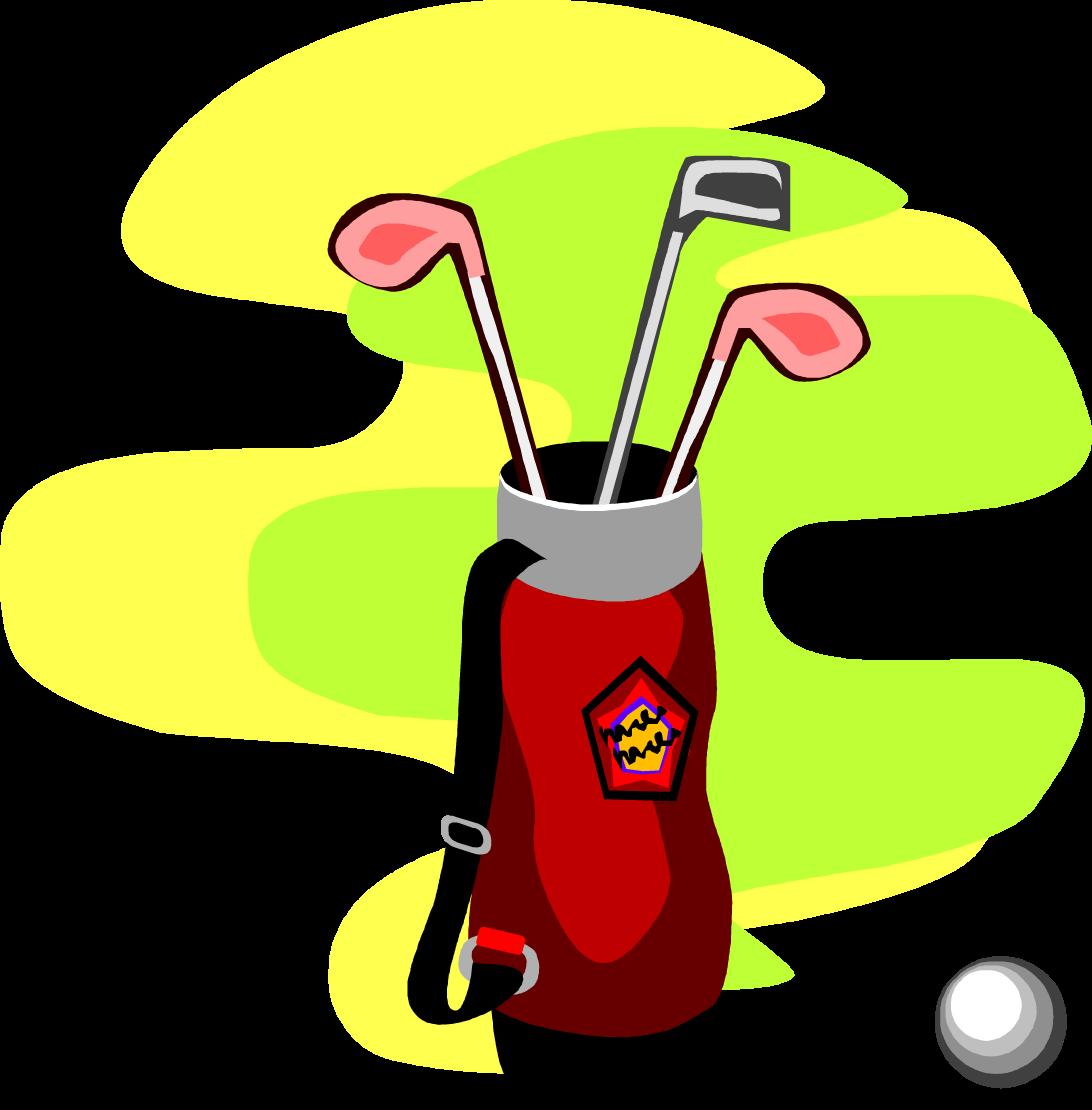 1092x1110 Free Cartoon Golf Bag Set Vector Clip Art Image From Free Clip Art