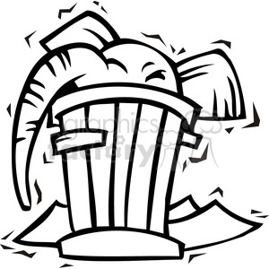 300x300 Royalty Free Black And White Clip Art Of A Republican Elephant