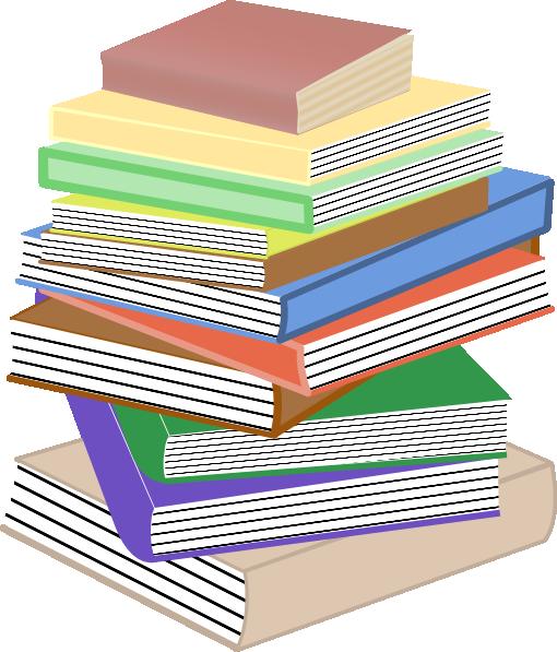 510x597 Stack Of Books, Taller Clip Art