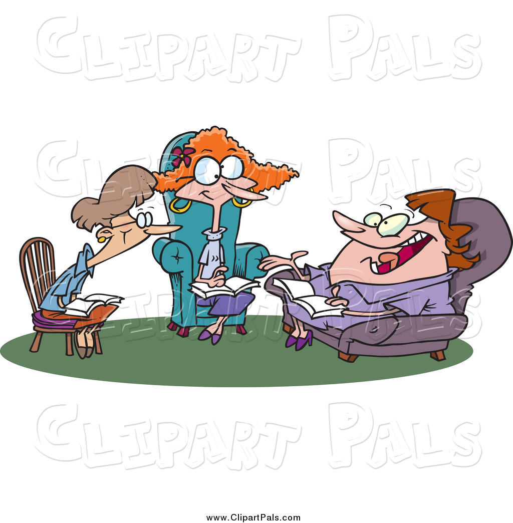 1024x1044 Pal Clipart Of Cartoon Ladies Talking During A Book Club Meeting