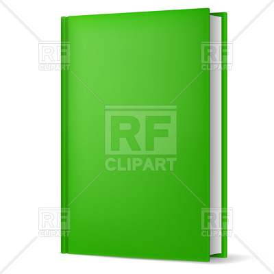 400x400 Green Hardback Book With Empty Cover Royalty Free Vector Clip Art