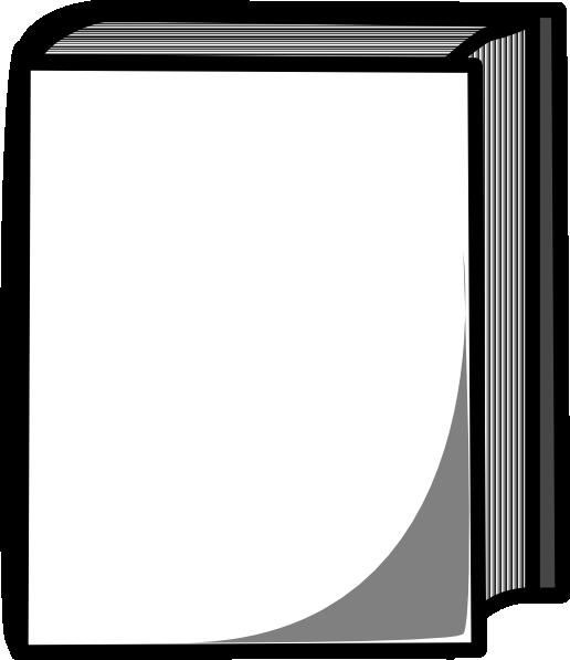 516x597 White Book Clip Art