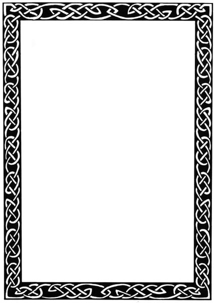 429x600 Knot Border Clipart