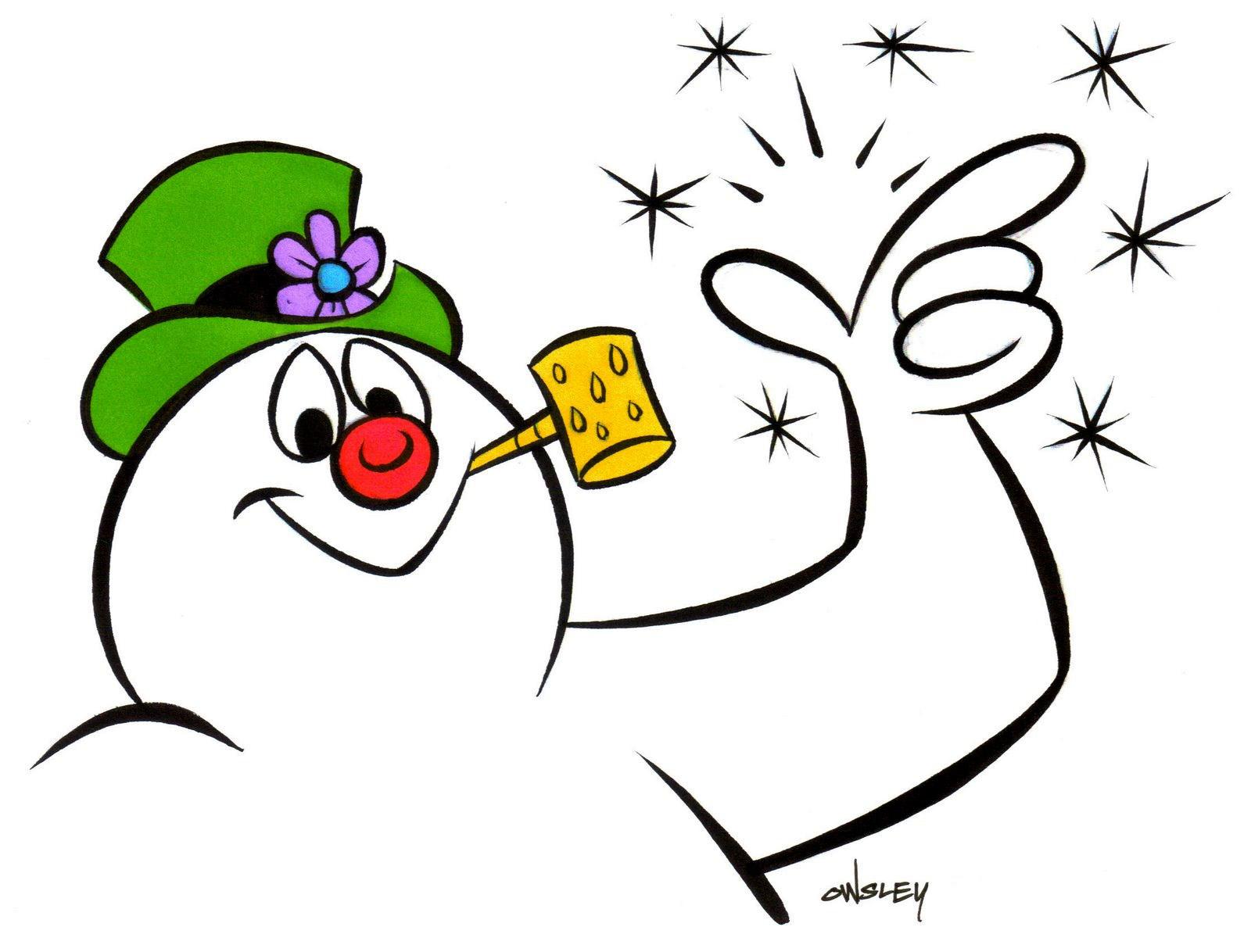 1600x1218 Funny Snowman Cartoon Clipart