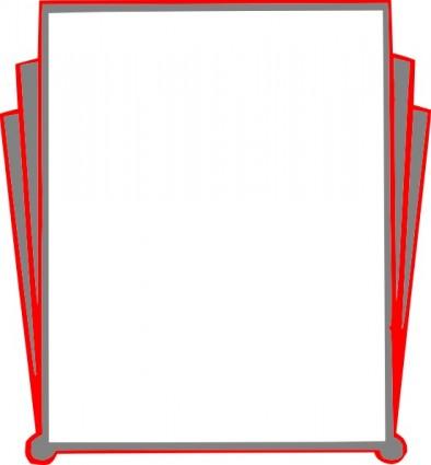 394x425 Clip Art Book Border Clipart