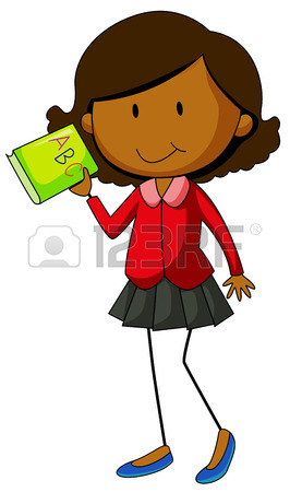266x450 Close Up Muslim Girl Holding A Book Royalty Free Cliparts, Vectors