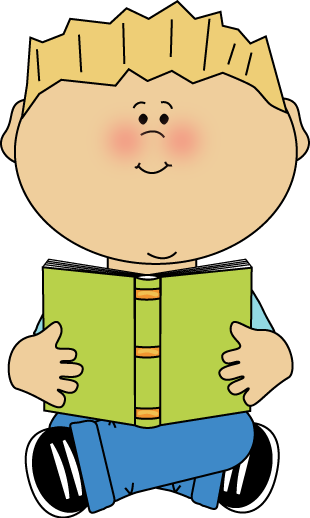 310x518 Boy Sitting And Reading A Book Clip Art