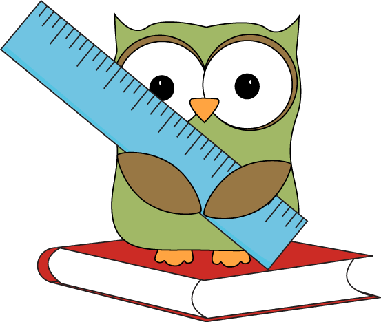 553x468 Owl Sitting On A Book With A Ruler. Owl Clip Art