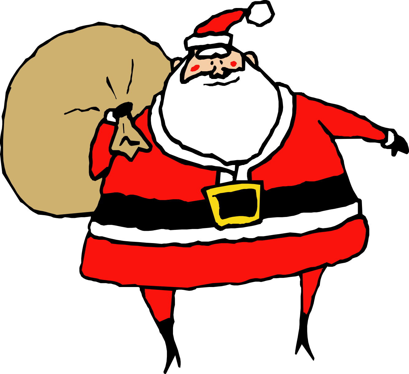 1331x1217 Santa Claus Clipart