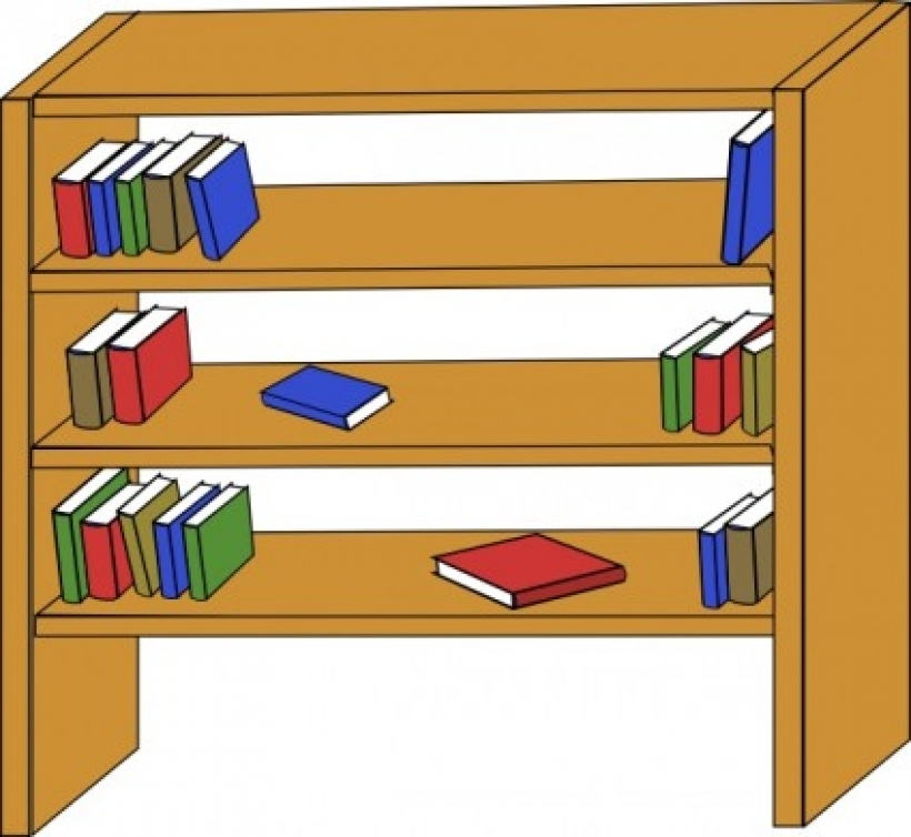 820x754 Furniture Library Shelves Books Clip Art Free Vector In Open