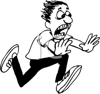 350x327 Clip Art Of Someone Screaming Clipart