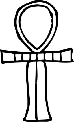 256x425 Pharaoh Key Of Life Outline Clip Art Vector Clip Art Free Vector