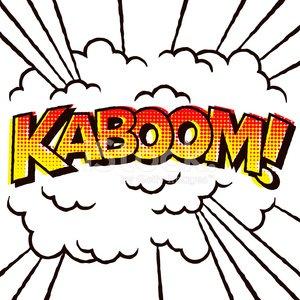 300x300 Vintage Comic Book Lettering Kaboom! Premium Clipart