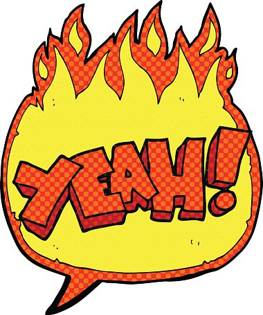 380x455 Yeah! Comic Book Speech Bubble Cartoon Shout Premium Clipart