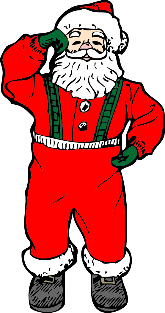 555x1050 Clip Art Santa Coloring Book Colouring Black