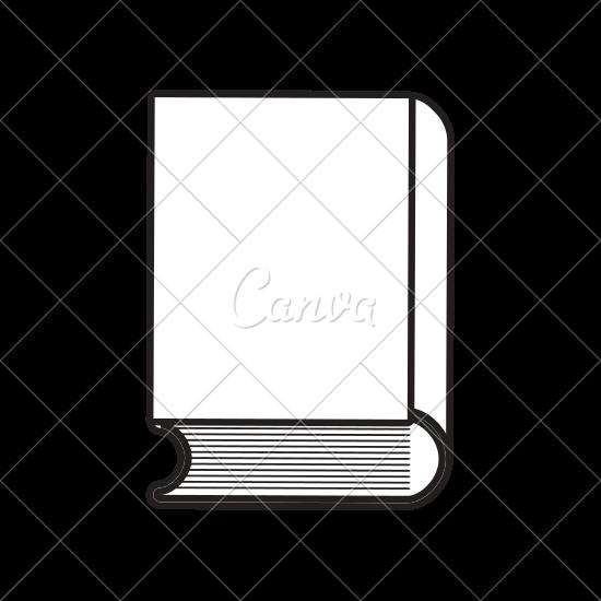 550x550 Book Icon Image Outline Fill Vector Design
