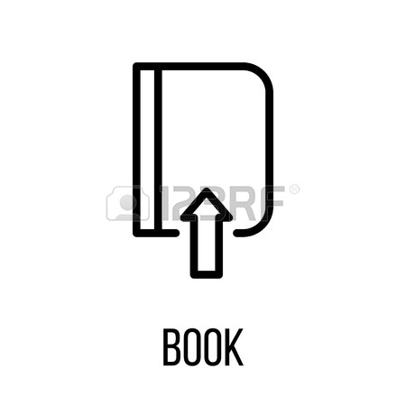 450x450 Book Icon Or In Modern Line Style. High Quality Black Outline