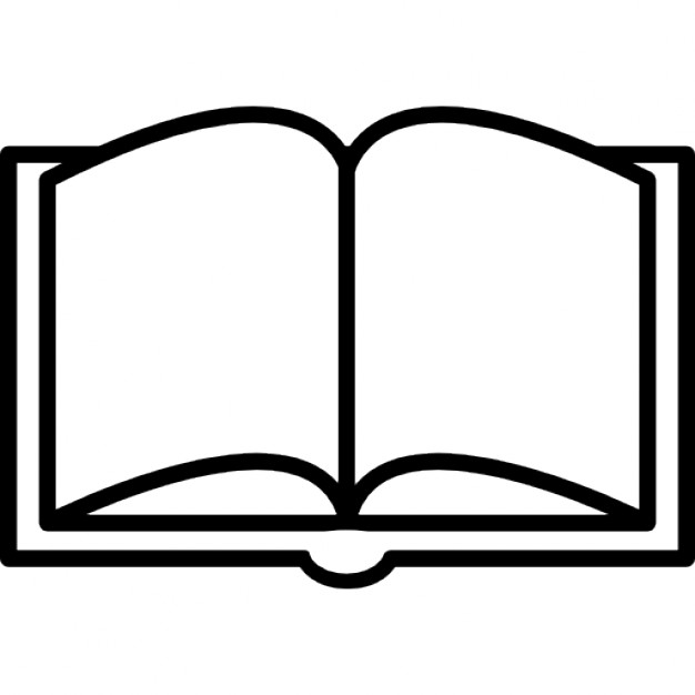626x626 Book Opened Outline From Top View Icons Free Download